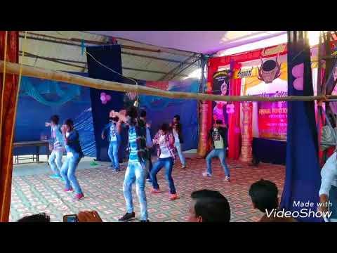 DESI PILA SAMBALPURI dance by sebanand and kiran group,Larambha College Larambha, Annual func. 2018.