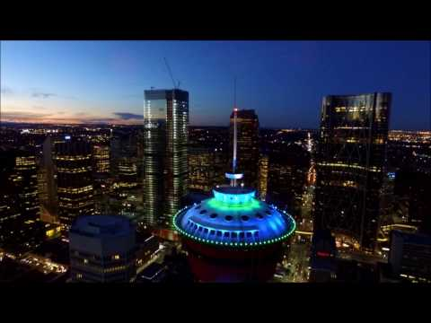 Aerial view of Calgary from a Drone