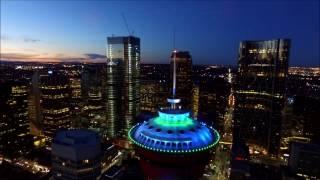 Aerial view of Calgary at Night
