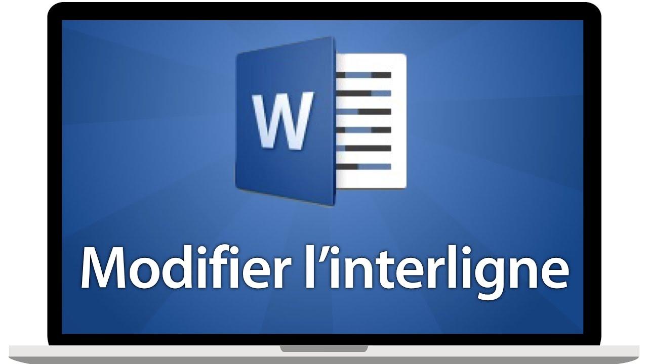 Modifier l'interligne sous Word