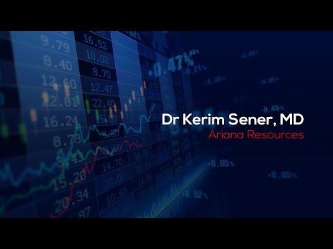 Dr Kerim Sener speaking at London South East's Natural Resources Investor Evening