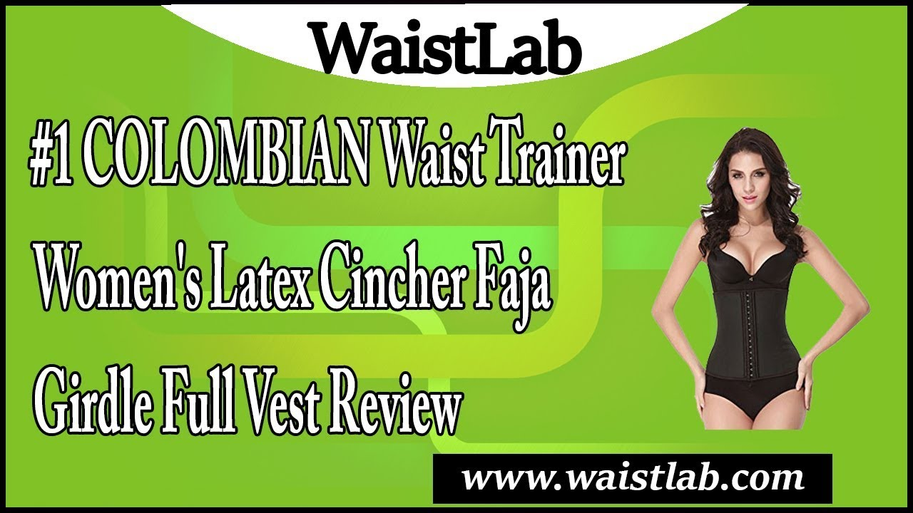 3e855a7c4bd  1 COLOMBIAN Waist Trainer Women s Latex Cincher Faja Girdle Full Vest  Review