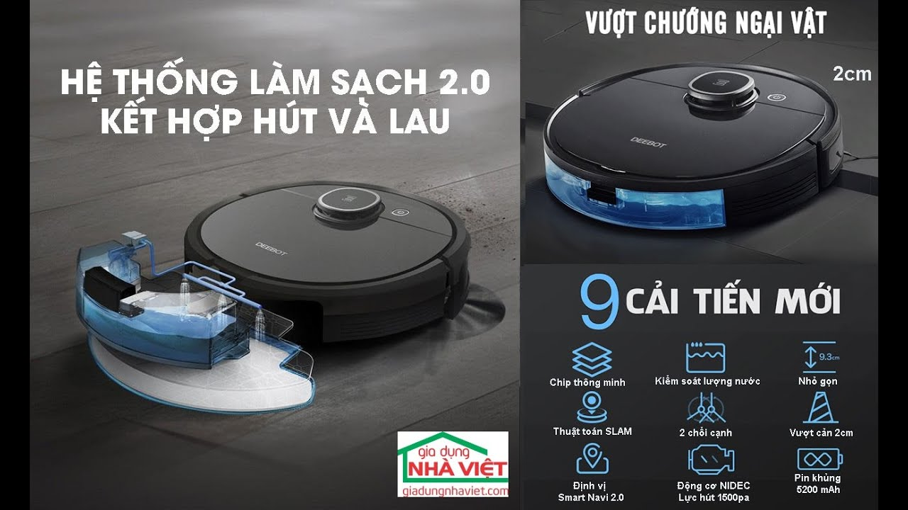 Review Robot hút bụi ECOVACS DEEBOT OZMO 950. - YouTube