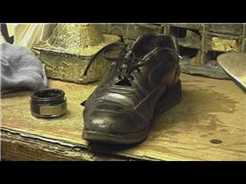 Shoe Repair & Cleaning : How to Remove Built-Up Shoe Polish on Shoes