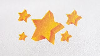 Adobe illustrator logo design tutorial : How to Create a 3D Star Object with gradient color