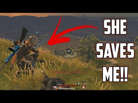 MY GIRLFRIEND SAVES ME! - Rules of Survival: Battle Royale