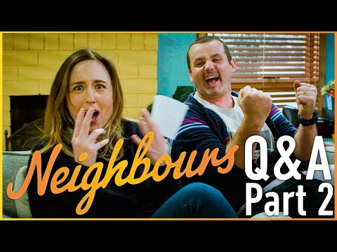 Ryan Moloney (Toadie Rebecchi) and Eve Morey (Sonya Rebecchi) - Neighbours Q&A Part 2