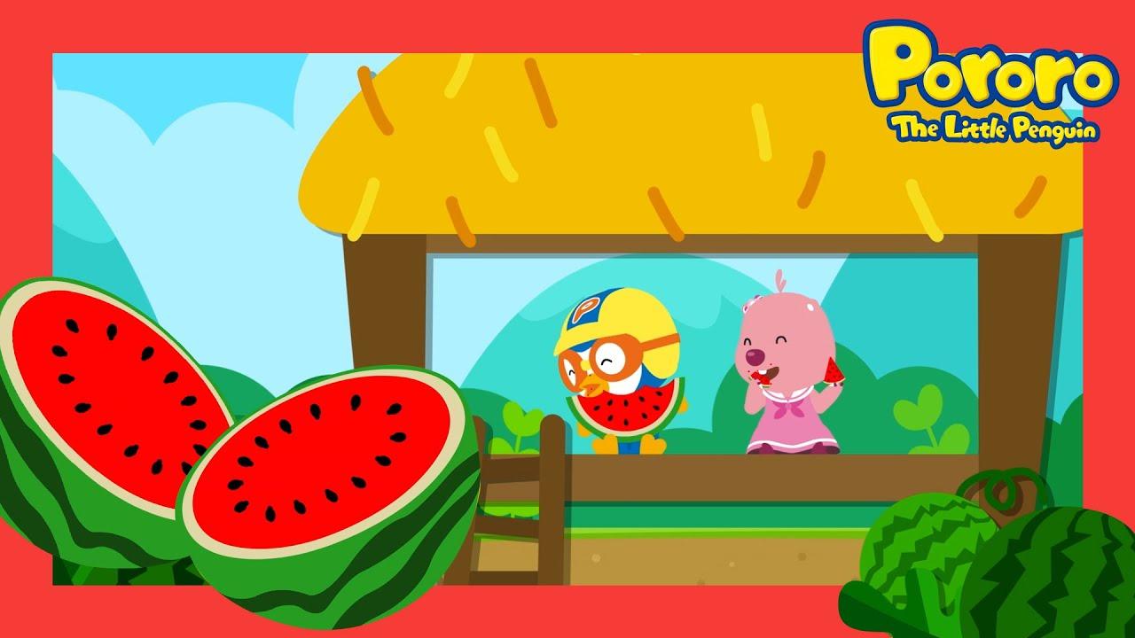 Pororo's Summer   Yummy Watermelon   Summer Song   Nursery Rhymes   Pororo the little penguin