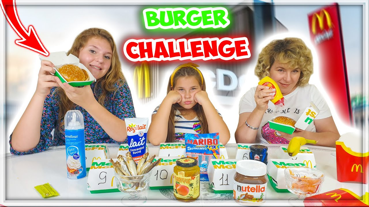 Burger Challenge ! McDonald's Hamburgers !