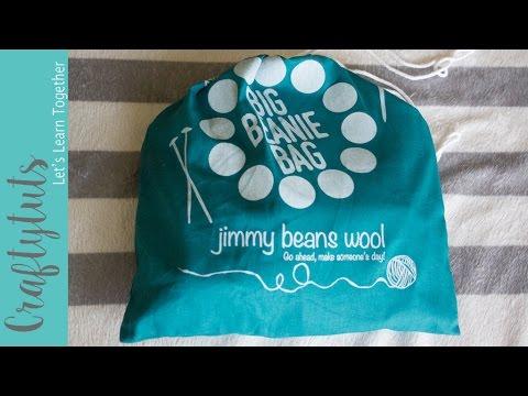 35dbb08a399 Big Beanie Bag by Jimmy Beans Wool Unbagging - YouTube
