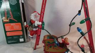 Sears exclusive Santa Climbing Ladder with Craftsman tool belt and tools