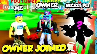 So The OWNER Of Pancake Simulator Joined My Game To Give Me A SECRET PET... (Roblox)