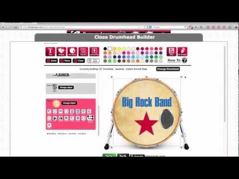 namm 2013 custom drum head builder youtube
