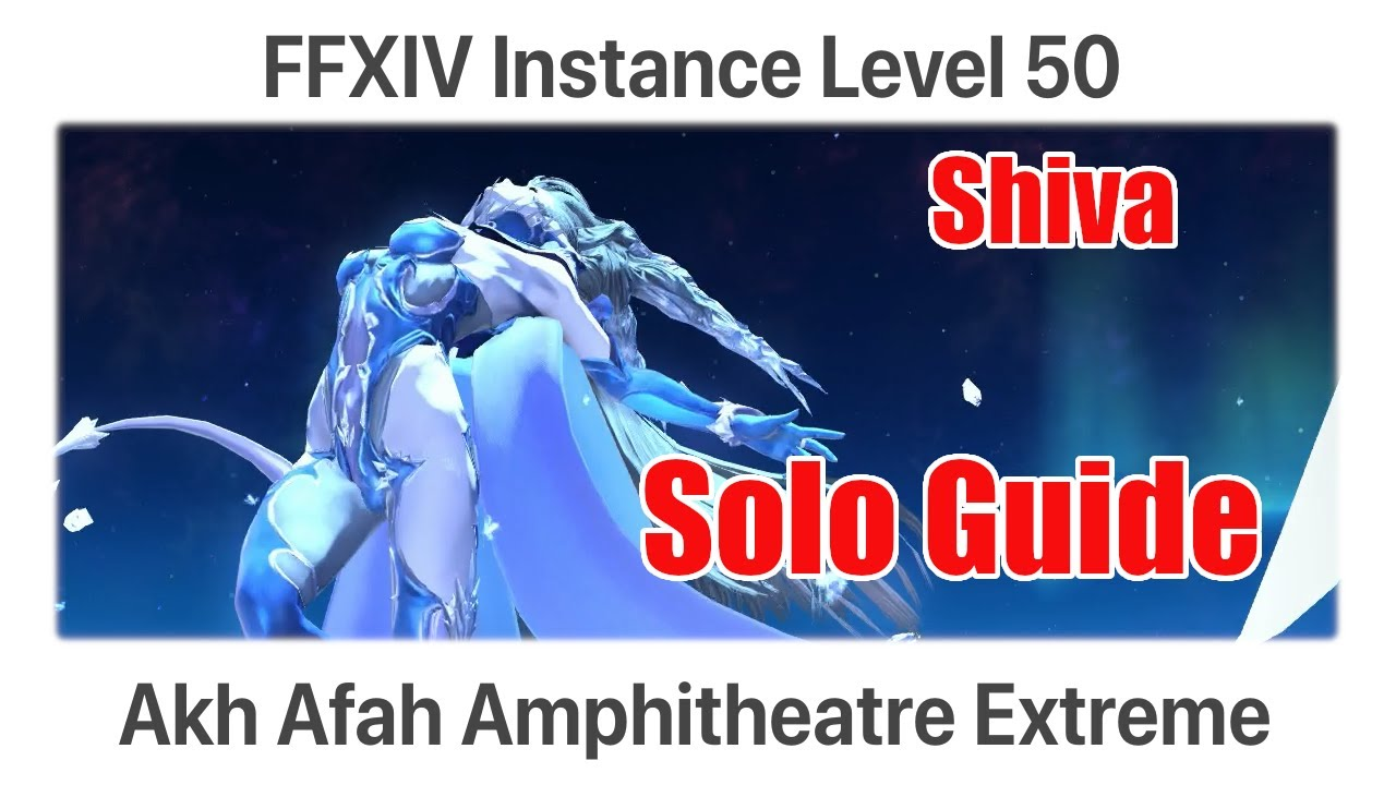 FFXIV Akh Afah Extreme Solo - Shiva (Level 50 Trial) - A Realm Reborn
