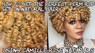 how to get the perfect perm rod set on natural hair   using camille rose naturals