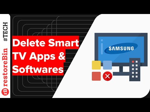 How to delete Samsung Smart TV app or applications?