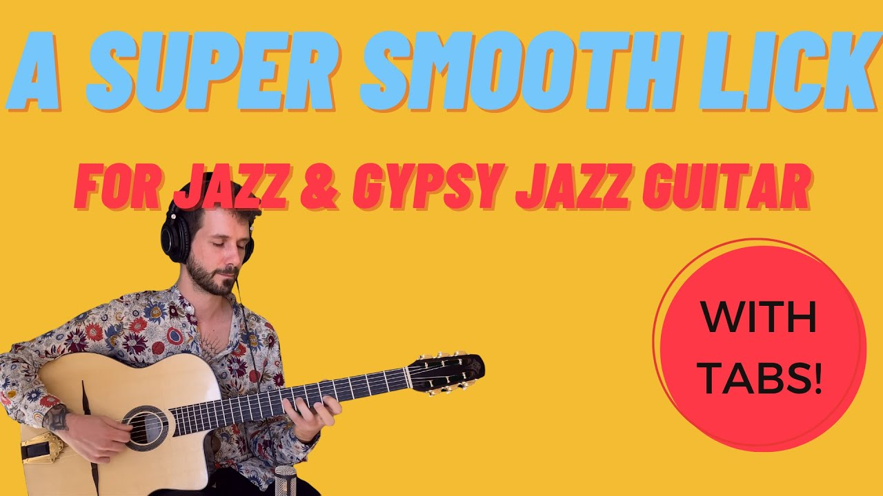 A super smooth lick for Gypsy Jazz guitar...that works on many chord types!
