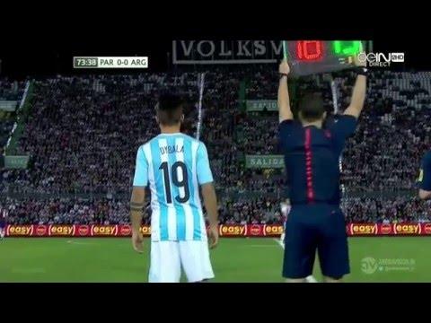 Paulo Dybala vs Paraguay 13 10 2015 Argentina Debut