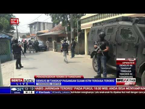 Densus 88 Tangkap Pasutri Terduga Teroris di Kunciran Tangerang