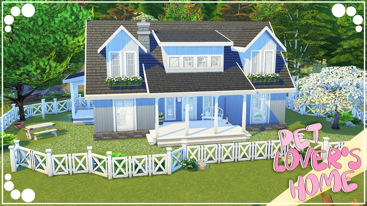 PET LOVER'S HOME | The Sims 4 | Speed Build