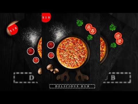 How to create a food flyer design in adobe photoshop cc\u0026cs6 2020 for beginners ||editclubhouse 2020
