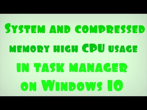 System and compressed memory high CPU usage in task manager on Windows 10