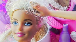 КАРОЧЕ ГОВОРЯ, САЛОН КРАСОТЫ! Мультик куклы Барби салон красоты для девочек