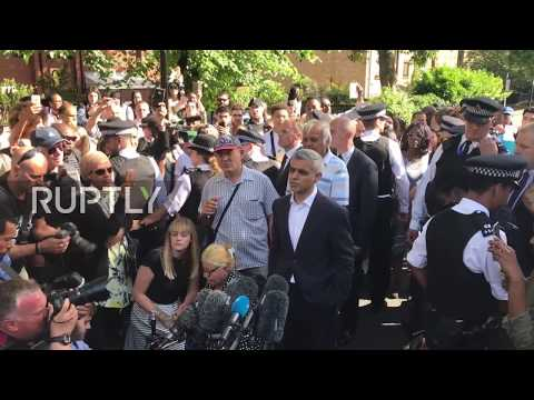 UK: Khan met with frustrated crowd at Grenfell Tower block