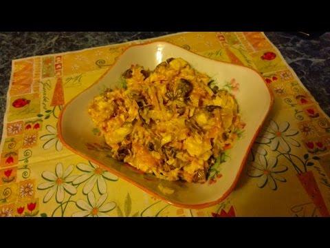 Филе куриное с ананасами салат