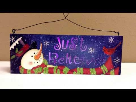 Blue Snowman LED Color Changing Sign from HomeHappensHere.com