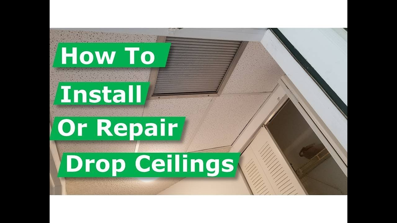 How To Install A Suspended or Drop Ceiling YouTube - oukas info