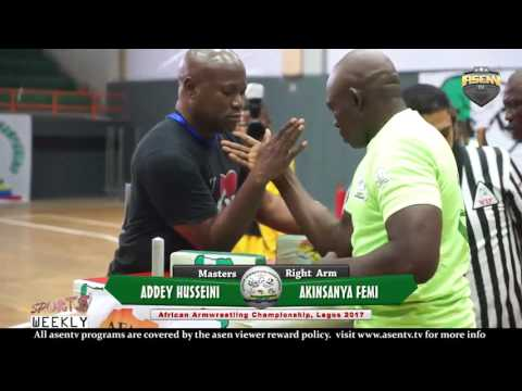 Right Armwrestling at the African Arm wrestling Championship In Lagos 2017