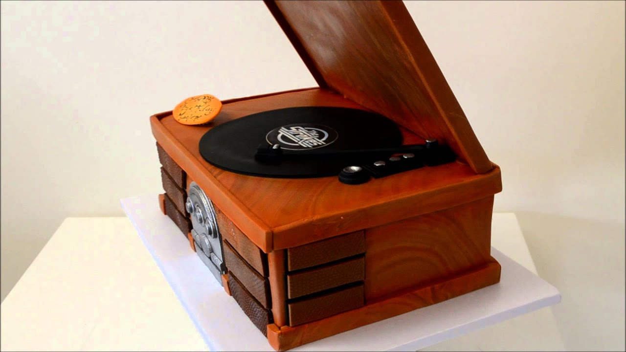 How To Make Record Player Cake