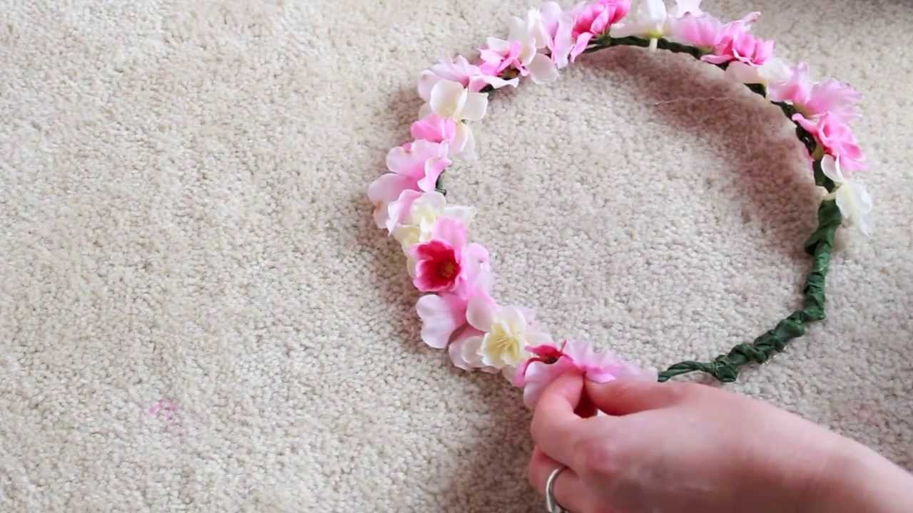 Diy flower crown youtube for Flower making at home
