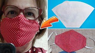 Mascara de Tecido Molde Fácil