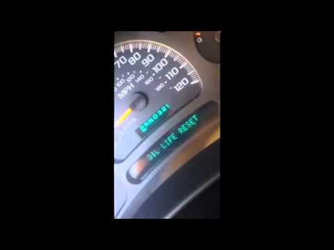 How To Reset Your Change Engine Oil Light 2004 Chevy Silverado