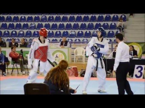 Tzellos N (Red) vs Telikostoglou (Blue), Final, -80kg, Greek W.T.F Championship 2016