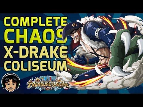 Walkthrough for Complete Chaos X-Drake Global Coliseum [One Piece Treasure Cruise]