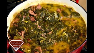 SOUTHERN MIXED GREENS WITH SMOKED TURKEY- HEALTHY OPTION |Holiday Series |Cooking With Carolyn