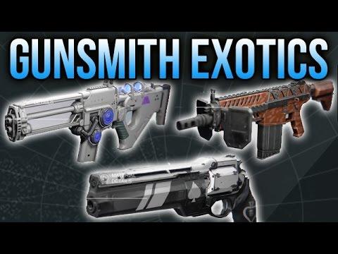 Destiny Gunsmith Exotics: How to Get Ace of Spades, Tlaloc, Fabian Strategy