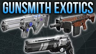 Destiny Gunsmith Exotics: How to Get Ace of Spades, Tlaloc, Fabian Strategy