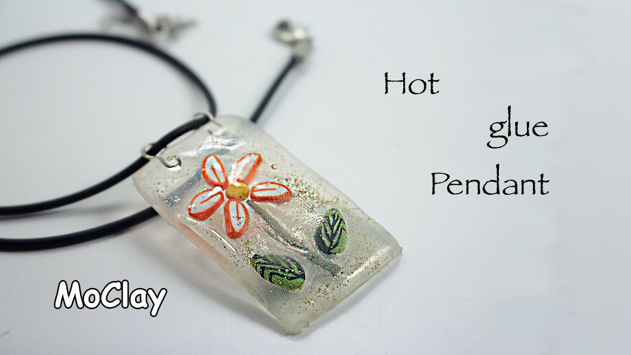 Diy hot glue polymer clay pendant tutorial youtube diy hot glue polymer clay pendant tutorial aloadofball Images