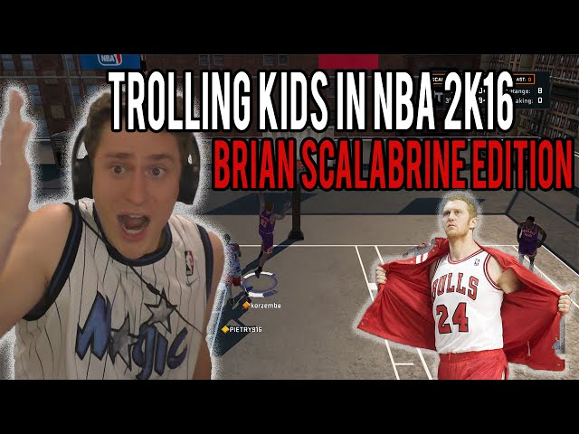 SCORING EVERY POINT WITH BRIAN SCALABRINE | Trolling People In NBA 2K16 Gauntlet