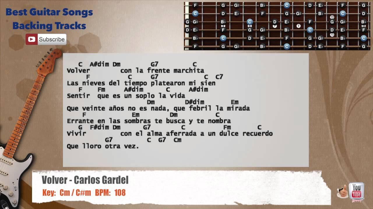 volver armonia backing track - youtube