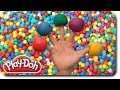 Play Doh Finger Family Ball Pit Song for learning colors | Nursery Rhymes for Children and Kids