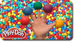 play doh finger family ball pit song for learning colors   nursery rhymes for children and kids