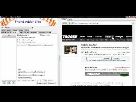 Tagged.com How-to Gather Mass Friend Ids On Tagged.com Social Network for Advertising and Marketing