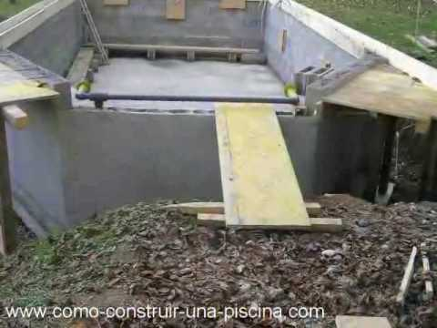 Construccion de la piscina parte 3 youtube for Construccion de piscinas climatizadas