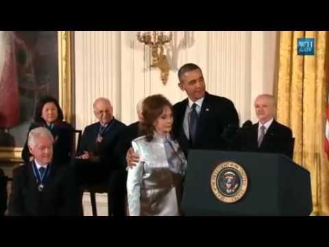 Country Music Legend Loretta Lynn Awarded Medal Of Freedom