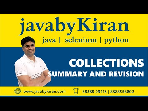 Collection Summary-By Kiran Sir-JAVA By Kiran,Pune